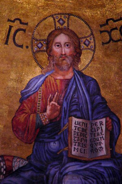 Picture of Christ in apse, San Paolo fuori le Mura, Rome