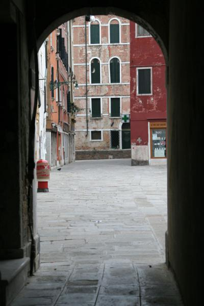 Part of one of the many small squares of San Polo district | San Polo | Italy
