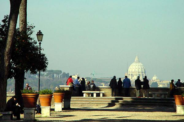 Enjoying the view over Rome from the garden | Santa Sabina church | Italy