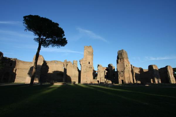 Front view of the Baths of Caracalla | Baths of Caracalla | Italy