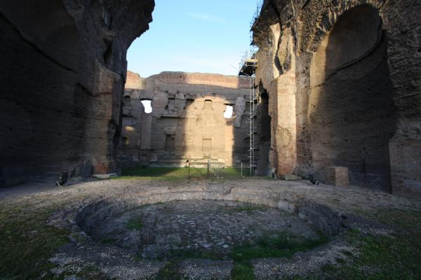 Picture of Baths of Caracalla (Italy): Frigidarium or cold bath in the Baths of Caracalla