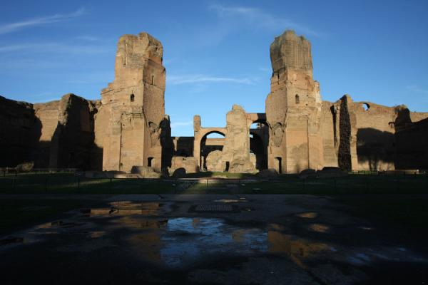 Picture of Baths of Caracalla (Italy): Baths of Caracalla seen from the west