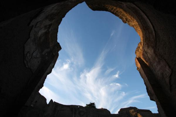 Cloud formations seen through an arch in the Baths of Caracalla | Baths of Caracalla | Italy