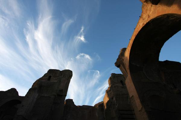 Arch and ruins at the Baths of Caracalla | Baths of Caracalla | Italy
