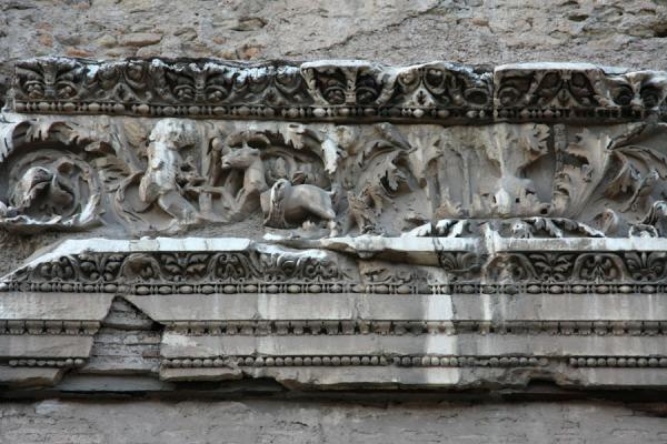 Picture of Baths of Caracalla (Italy): Detail of frieze of the Baths of Caracalla