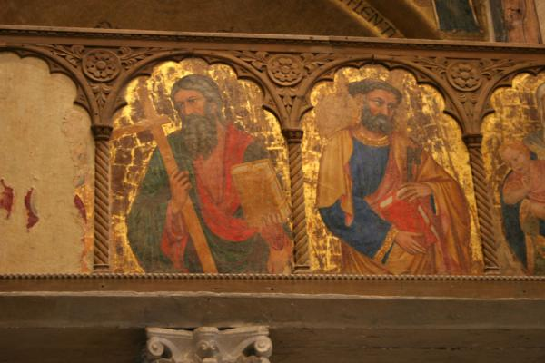 Wooden painted panel inside the Santa Maria Assunta Cathedral | Torcello | Italy