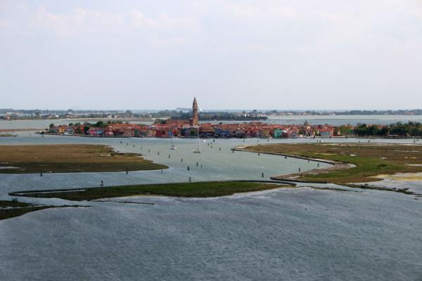 Picture of Torcello: view towards Burano from belltower