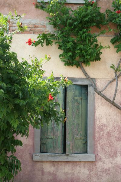Window in house on Torcello near Bridge of the Devil | Torcello | Italy