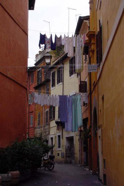 One of the small streets in Trastevere | Trastevere | Italy