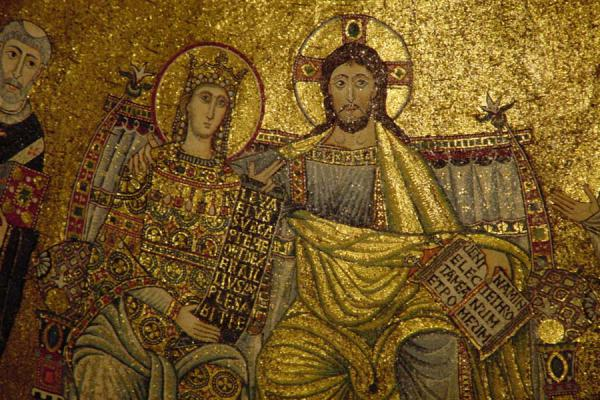 Fragment of mosaic in Maria in Trastevere | Trastevere | Italy