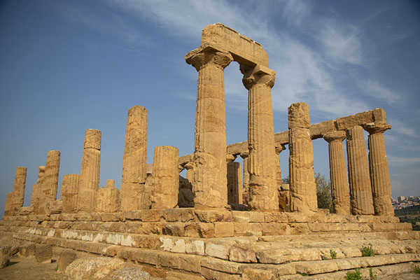 Photo de Temple of Juno in the morningAgrigento - l'Italie