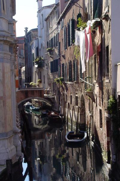 Narrow canal in an idyllic city | Venetian Canals | Italy