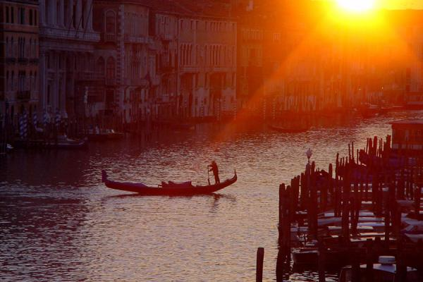 Sunset over the Canal Grande | Canales de Venecia | Italia