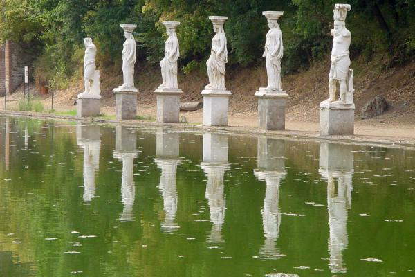 The Caryatides reflected in the pond of Canopus | Villa Adriana | Italy