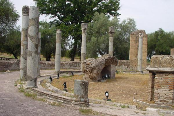 Remains of building next to Poikile | Villa Adriana | Italy
