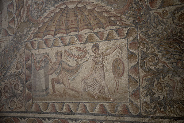 Picture of Mosaic with satyr and maenadVilla Romana del Tellaro - Italy