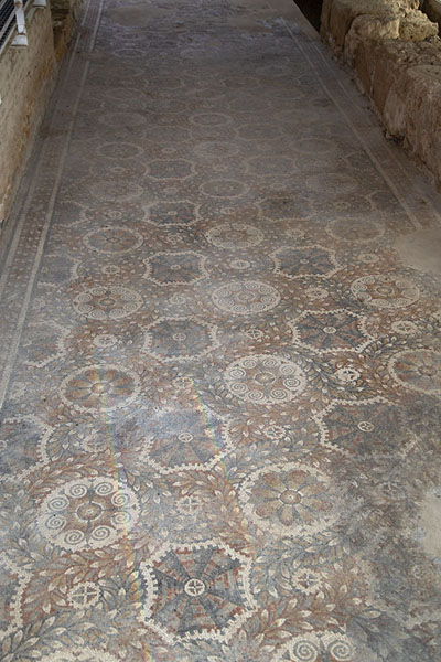 Picture of Geometric mosaics covering the floor of this room in the villa - Italy - Europe