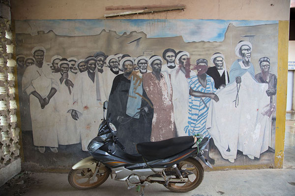 Foto van Mural with religious leader in the museum of BondoukouBondoukou - Ivoorkust