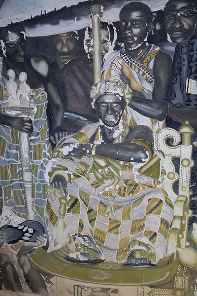 Foto de Detail of a mural in the museum of BondoukouBondoukou - Costa Marfil