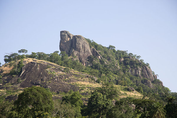 Picture of La Dent de Man rising high above the landscape