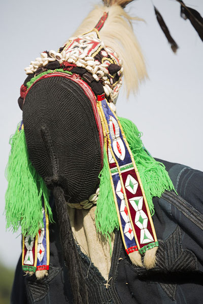 Foto van Close-up of the stilt dancerGboni - Ivoorkust