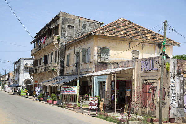 Picture of Colonial buildings on one of the streets of Grand Bassam - Ivory Coast - Africa
