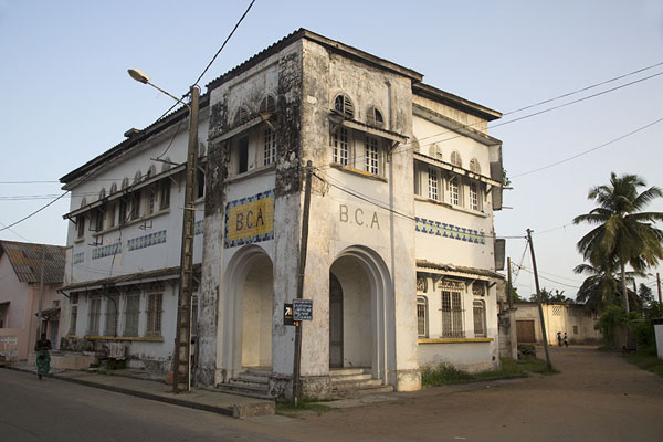 The BCA building stands on a corner in Grand Bassam | Grand Bassam | Ivory Coast