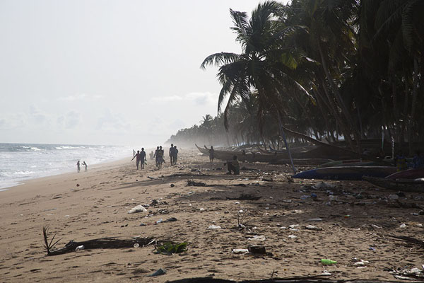 Picture of People walking the beach of JacquevilleJacqueville - Ivory Coast
