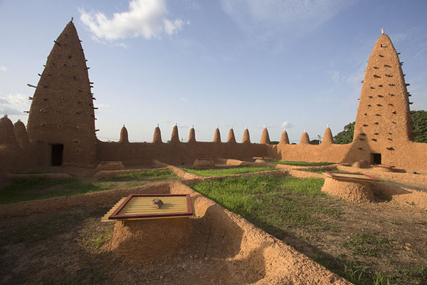 Rooftop view of the mosque of Kong | Kong mosque | Ivory Coast