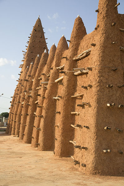 West wall of the mosque of Kong | Kong mosque | Ivory Coast