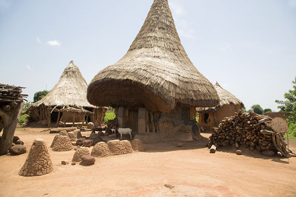 Picture of Main hut of the fetish Diby where sacrifices are made every FridayNiofoin - Ivory Coast