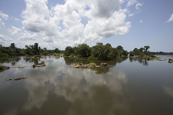 View of the landscape in the Sassadra river seen from the bridge | Pont Weygand | Ivory Coast