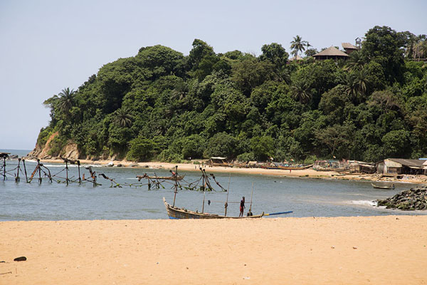 Picture of Beach of Sassandra with the sacred forestSassandra - Ivory Coast
