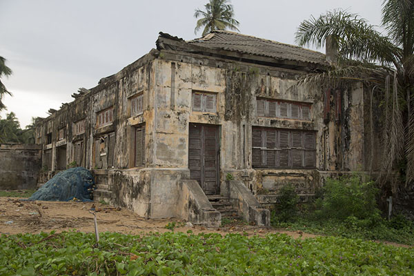 Picture of Colonial house in ruins in Sassandra - Ivory Coast - Africa