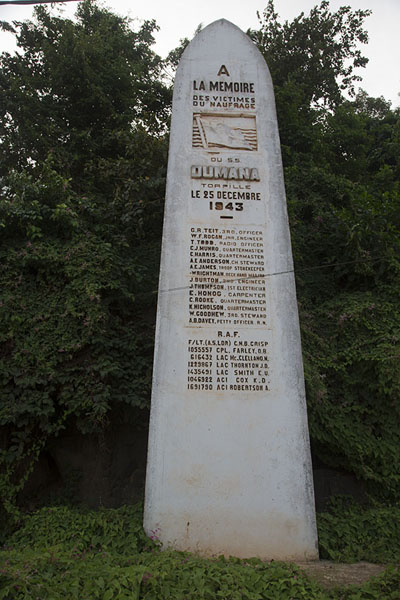 Monument for the British who died in a submarine attack off the coast of Sassandra | Sassandra | Ivory Coast