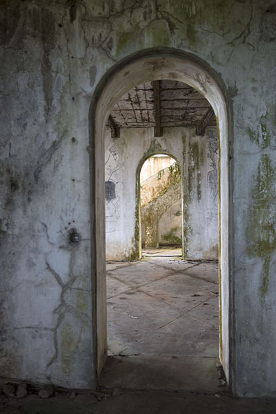 Vaulted arches in the ruins of the governor's house of Bas-Sassandra | Sassandra | Ivoorkust