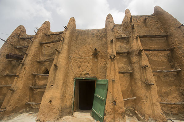 The walls and ribs of the mosque of Sorobango | Sorobango moskee | Ivoorkust