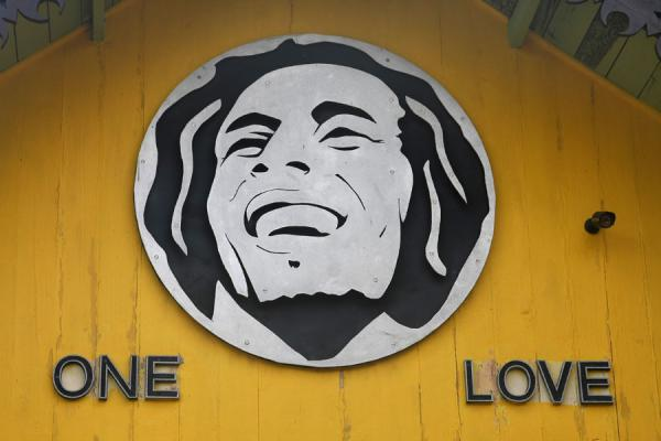 Foto van The central message of Bob Marley: One LoveNine Mile - Jamaica
