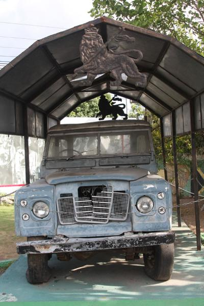 The Landrover that Bob Marley used in the seventies | Musée Bob Marley | Jamaique