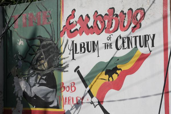Proudly displaying the Album of the Century title | Musée Bob Marley | Jamaique