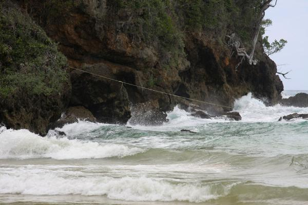 Picture of Frenchman's Cove Beach (Jamaica): Rough sea calming down near Frenchman's Cove Beach