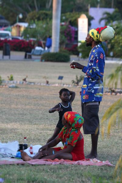 Picture of Colourful Jamaican family in park