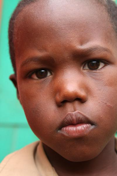 Picture of Jamaican school boy with expressive face