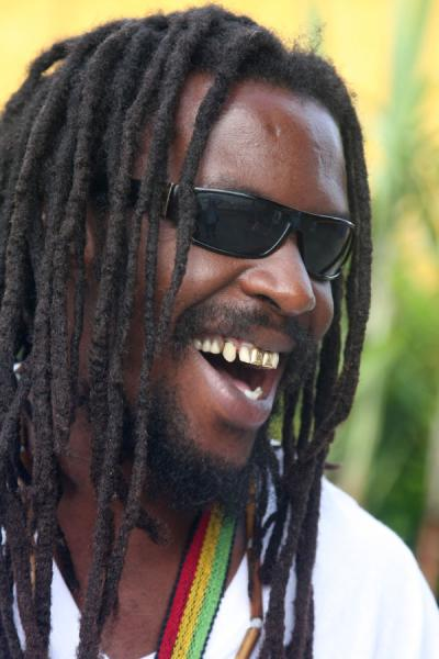 Picture of Friendly Jamaican smile in a relaxed guy