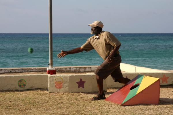 Picture of Throwing a ball on the beach - Jamaica - Americas