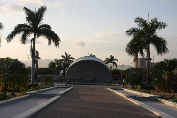 Open-air multi-purpose stage in the middle of Emancipation Park | Emancipation Park | Jamaica
