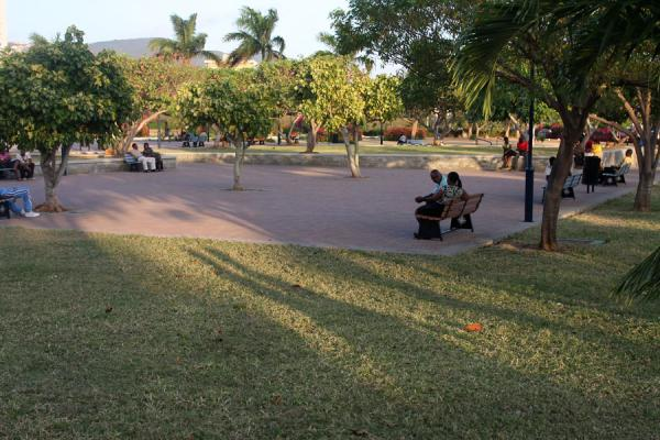 Foto de Jamaicans having a rest in Emancipation ParkKingston - Jamaica