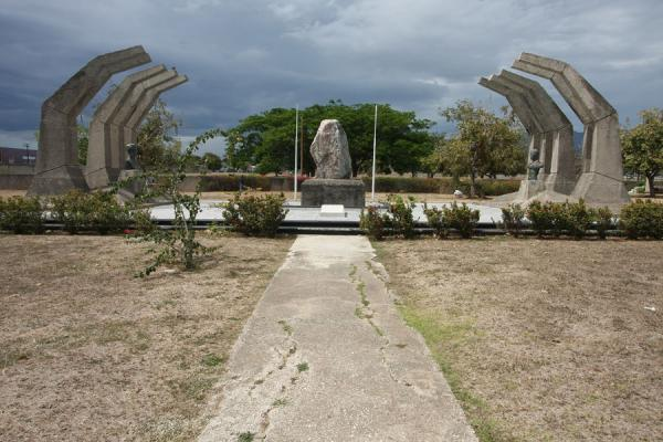 The combined monument for Paul Bogle and George Gordon | National Heroes Park | Jamaica