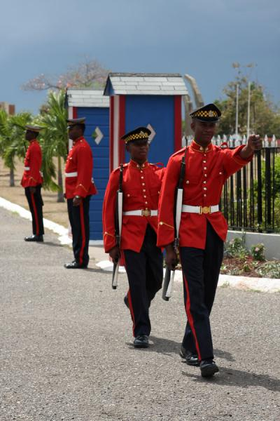 Guards changing | National Heroes Park | Jamaica