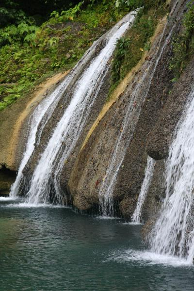 Water gently falling down at Reach Falls | Reach Falls | Jamaica
